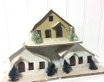 3 Vintage Putz Houses