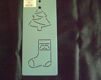 Quilting Stencil Mini Christmas Tree and Stocking Block/Embroidery/Holiday Crafting/3 in. Tall and Wide