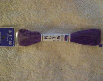 Sashiko Embroidery Thread/Purple /22 yds