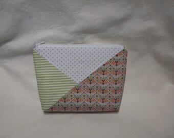 zip closure fabric makeup bag