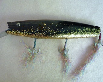 Wood Fishing Lure - Huge Vintage Lure - Hand Made Collectible Lure