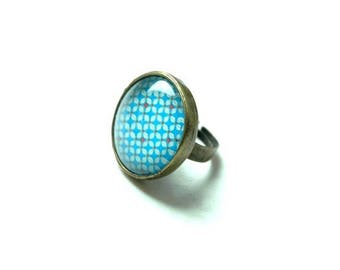 Ring cabochon 25 mm bronze