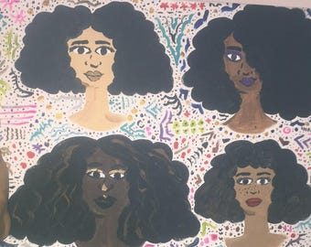 Afro Girls in Color