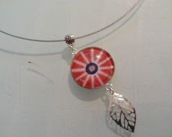 Red ethnic pendant