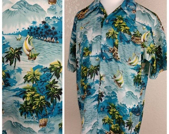 Amazing Vintage Mr. Florida Hawaiian Shirt