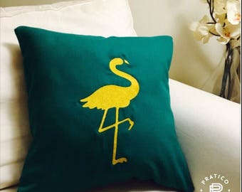 Ready to ship/18poX18po Cushion cover / pillow cover / backside jeans in navy / green pillow cover red Emerald / Flamingo / flamingo
