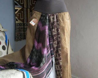 Mixed velvet harem pants size M mixed Akwaba Creations