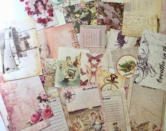 Journaling cards, tags, envelopes