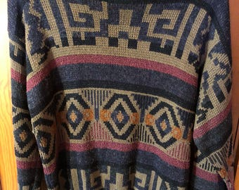 Vintage Expressions Worldwide Pullover Sweater Size M