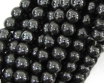 """4mm magnetic hematite round beads 16"""" strand 14000"""