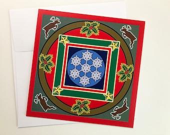 Holiday Mandala Card