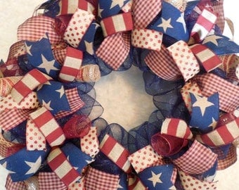 SALE 4th of July Wreath, Fourth of July Wreath, 4th of July wreaths, Fourth of July wreaths, Patriotic wreath, patriotic wreaths, July 4th w