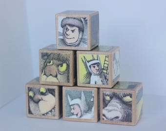 6 Where The Wild Things Are Wooden Blocks