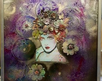 Purple pop painting