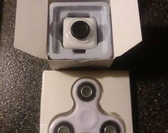 White Fidget Spinner/Cube