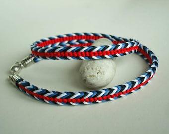 Braided kumihimo bracelet  Elegant bracelet for women Boho bracelet Gift ideas for her Teen girls gift Gift for girlfriend Japan style