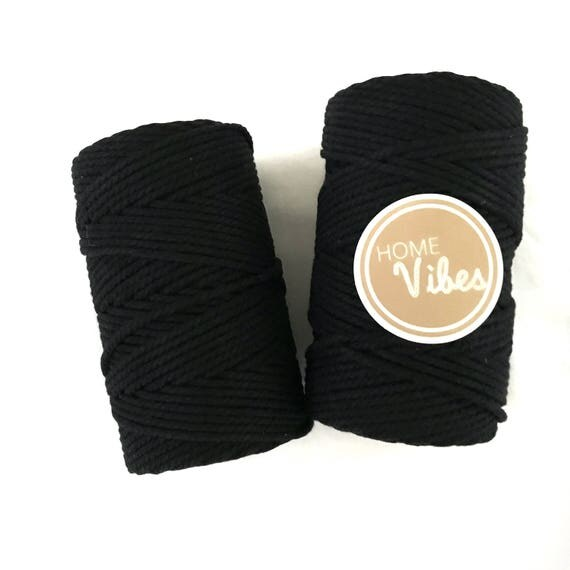 BLACK Macrame Cord