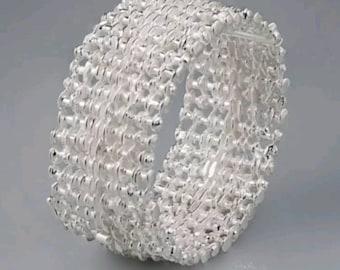 Juhls Kautokeino Vintage Norwegian Sterling Silver Modernist Bracelet