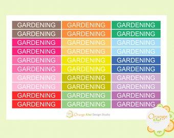 Gardening Stickers, Header Stickers, Planner Stickers, Plant Stickers, Erin Condren Life Planner, Filofax, Happy Planner, Kikki K