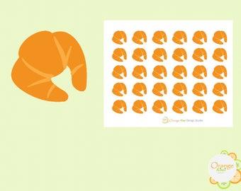 Croissant Stickers, Food Stickers, Planner Stickers, Erin Condren Life Planner