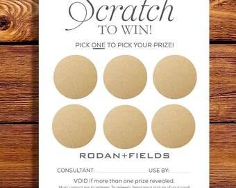 Rodan + Fields Scratch Off HARD COPIES Cards