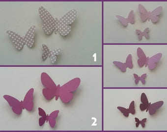 Set of butterfly 3D - choose colors