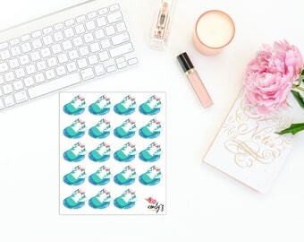 Lilly The Cat- Relax, Nap, Pool| Erin Condren, Personal Size  Planner Stickers