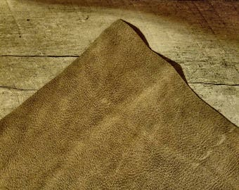"""Rustic Brown Leather Panel Low Shine Nubuck Brown Leather Craft Peice Distressed Craft Peices 12sqft or 6""""×12"""" Panels"""