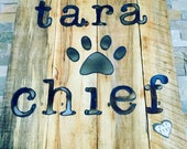 CUSTOM NAME Rustic Sign...Wall Art...Reclaimed Wood...Steel Sign...Handmade..Baby Shower..Wedding Gift..Christmas Gift..Customize Your order