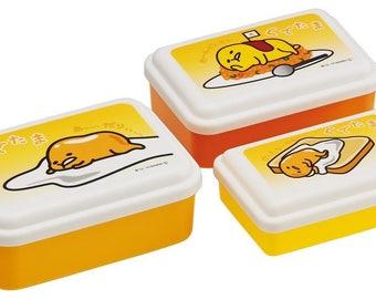 Gudetama Lazy Egg Food Container Set 3 Pcs - Food Storage ぐでたま サンリオ