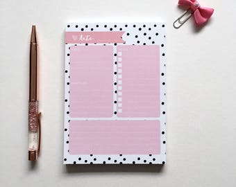 A6 Planner Pad - Note pad - To do List - So organised! - 50 Sheets.