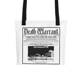 Death Warrant Tote- White
