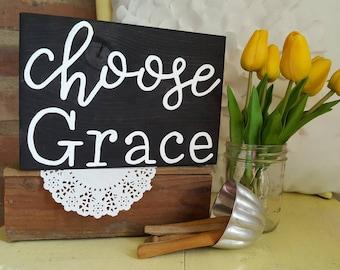 Mini Choose Grace Wood Sign