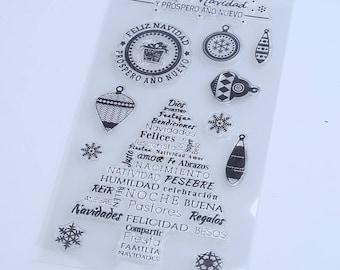 Feliz Navidad Clear Stamp Set of 12