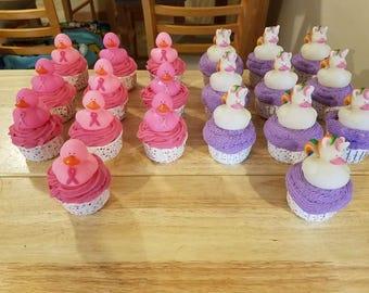 Rubber Duckie Bubble  Bathbomb Cupcake
