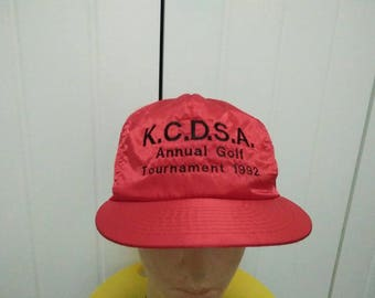 Rare Vintage KCDSA Annual Golf Tournament 1992 Embroidered Spell Out Cap Hat Free size fit all