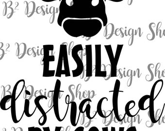 Easily distracted by cows - SVG file
