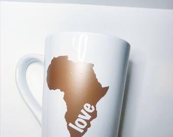 Africa Love Mug // Love Africa Mug