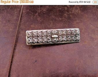 ON SALE Vintage Silver Brooch
