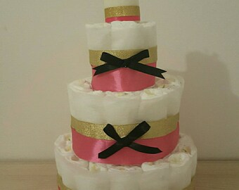 Great for girl diaper cake