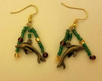 Dolphin Ocean Earrings