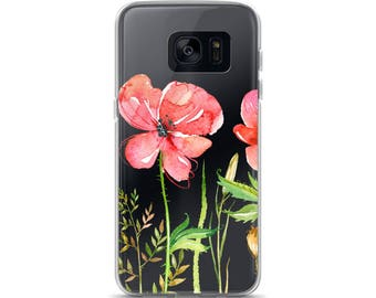 Red Poppies Flower Samsung Case