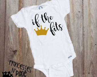 If The Crown Fits One-Piece Bodysuit - Princess - Crown