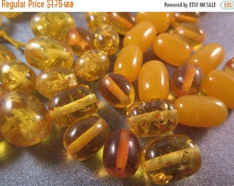 ON SALE 15% OFF Imitation Resin Amber Mixed Barrel Beads 10pcs