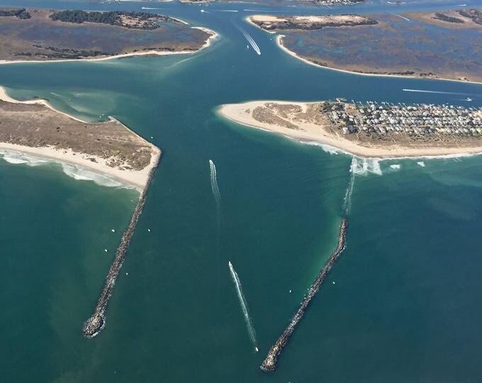 Featured listing image: Beach Wall Art: Wrightsville Beach Aerial Beach Photography | Masonboro Island | Wilmington NC