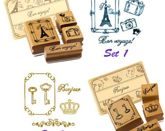 Creative Stamp, Retro, Functional, Stationery, Wood, Rubber, Card Making