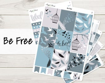 Be Free Weekly Kit | Planner Stickers