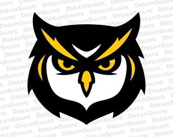 Owl SVG Files, Bird SVG Files, Owl Head Logo Design for Electronic Cutting Machine, Owl Bird Cut File, Owl Head SVG Files, Instant Download