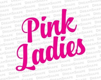 Pink Ladies Logo SVG Cut Files, Grease 50s Pink Ladies DXF Cutting Files, Old Film 50's Greaser Pink Ladies SVG Dxf Files, Instant Download