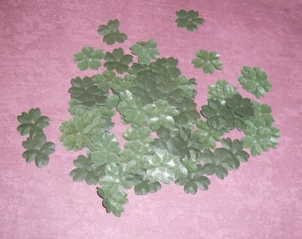 Four Leaf Clover Miniature Stickers Vintage Millinery Craft Floral Supplies